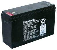 Blei-Akku (Panasonic) LC-R0612P, 6V, 12 Ahm (Faston 187 -...
