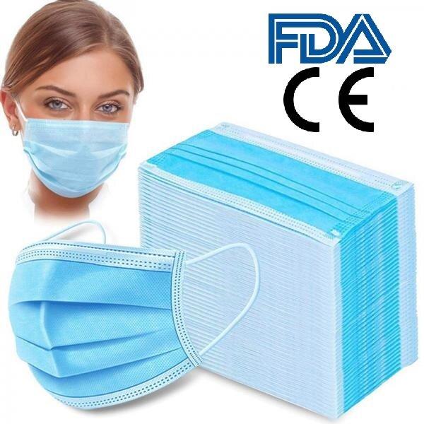 Einweg OP-Maske 3-lagig Mundschutz Schutzmaske Gesichtsmaske Viren-Schutz