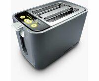 Carrera No 552 Kompakt-Toaster 2 Scheiben Schlitz Brötchenaufsatz 860W Edelstahl