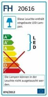 Fischer&Honsel Zoe Premium-Serie LED Deckenleuchte 40x40 Alu/Chromfarben Dimmbar