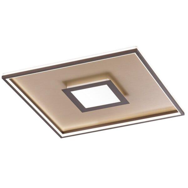 Fischer&Honsel Zoe Premium-Serie LED Deckenleuchte 40x40 Gold/Rostfarben Dimmbar