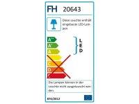 Fischer&Honsel Bug Premium LED Deckenleuchte 80X80 Alu/Chromfarben Fernbedienung