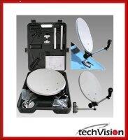 Camping SAT-Antenne im Koffer 38cm 100 % ASTRA oder HOTBIRD