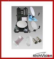 Camping-Koffer Antennen-SET inkl. Kabel, LNB, Stecker