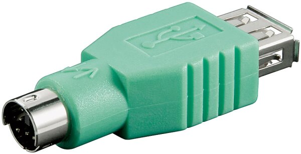 USB-Adapter A-Buchse > PS/2-Stecker Zur Benutzung mit Kombo Maus/ Tastatur