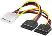 Power-Adapter 4 polig Stecker auf 2 x S-ATA
