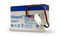 Bleiakku Ultracell 12 V, 0,8 Ah (UL0.8-12) - AMP-Stecker...