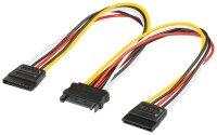 Internes Y-SATA Stromadapterkabel S-ATA Kupplung > 2x...