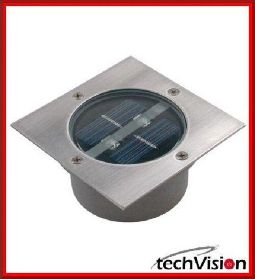 Ranex Carlo Solar Bodeneinbaustrahler Solarlampe Edelstahl Viereck (Gardenline)