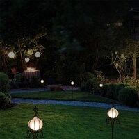 Näve LED-Fackel Deko-Leuchte Garten-Lampe Antik Rost...