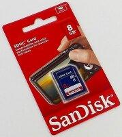 SanDisk SDHC SD-Speicherkarte Class 4, 8 GB