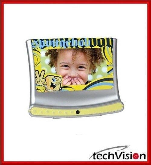 """SpongeBob 7"""" digitaler Bilderrahmen In-Vision mit 128MB Speicher, Uhr, Kalender"""