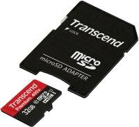 Transcend Premium microSDHC UHS-I Karte 32GB Class 10