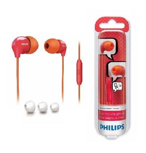 Philips SHE3575OP InEar-Kopfhörer Headset für Smartphones ocra/pink