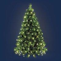 Weihnachtsbaum Lichternetz 288 warmweiße Lampen, 8...