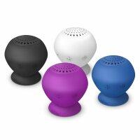 TrekStor Bluetooth SoundBall 2in1 Mini Lautsprecher Freisprechfunktion blau