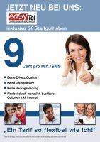 easyTel Starterkarte PrePaid Prepaid-Starterkarte...