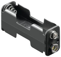Batteriehalter 2 x Mignon AA mit Druckknopfanschluß...
