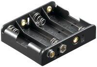 Batteriehalter 4 x Mignon AA mit Druckknopfanschluss