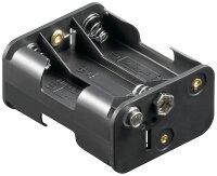 Batteriehalter 6 x Mignon AA mit Druckknopfanschluß...